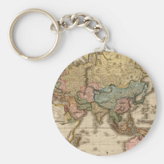 Fossil World Map 10 Key Ring