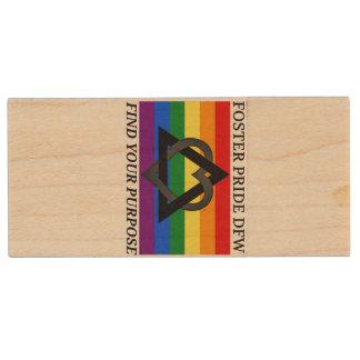Foster Pride Wood USB 3.0 Flash Drive