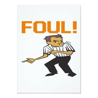 "Foul 5"" X 7"" Invitation Card"
