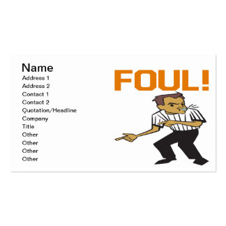 Foul Pack Of Standard Business Cards