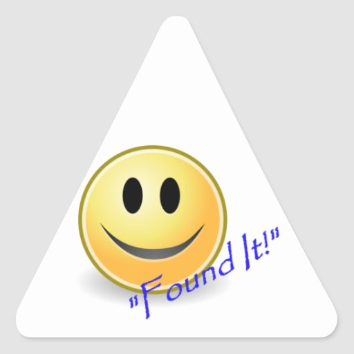 Found It! Geocaching Triangle Sticker