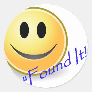 Found It! Geocaching Round Sticker