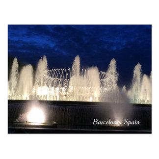 Fountain in Barcelona, Spain Postcard