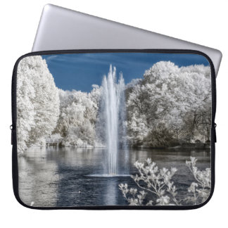 Fountain in Infrared Laptop Sleeve