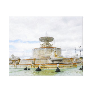Fountain on Detroit's Belle Isle in Michigan Canvas Print