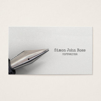 Fountain Pen And Paper Business Card