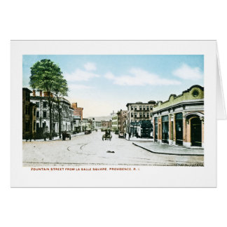 Fountain Street, Providence, Rhode Island Greeting Card