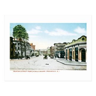 Fountain Street, Providence, Rhode Island Postcard