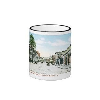 Fountain Street, Providence, Rhode Island Ringer Mug