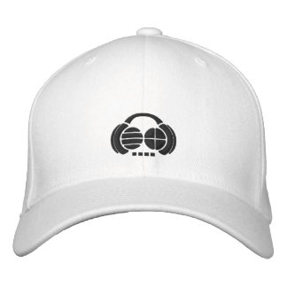 Four4ths - black logo front side embroidered hats