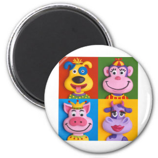 Four Animal Faces Magnet