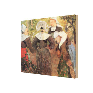 Four Breton Women by Paul Gauguin Canvas Print