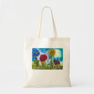 Four Bright Flowers Garden Tote