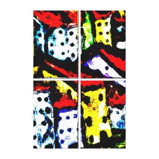 Four Canvas Set Modern Wall Art Abstract City
