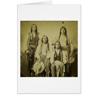 Four Cheyenne Scouts Vintage Stereoview Card