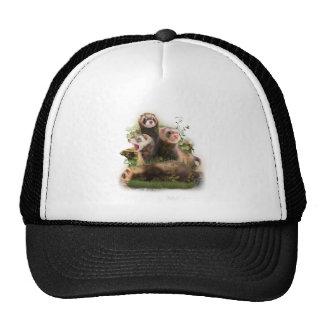 Four Ferrets in Their Wild Habitat Trucker Hat
