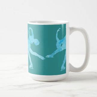 Four Figure Skaters in Cool Blue Coffee Mug