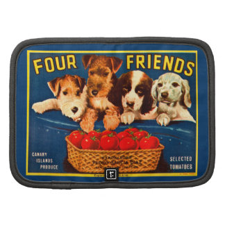 Four Friends Vintage Tomato Crate Label Dogs Folio Planners