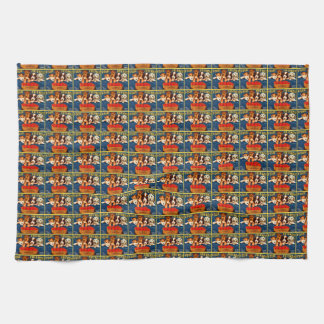Four Friends Vintage Tomato Crate Label Dogs Hand Towels