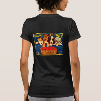 Four Friends Vintage Tomato Crate Label Dogs Tshirts