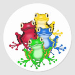 Four Frogs Tshirts and Gifts Round Sticker