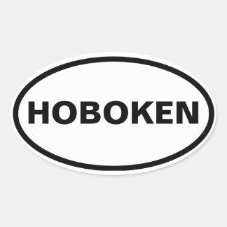 FOUR Hoboken, New Jersey Oval Sticker