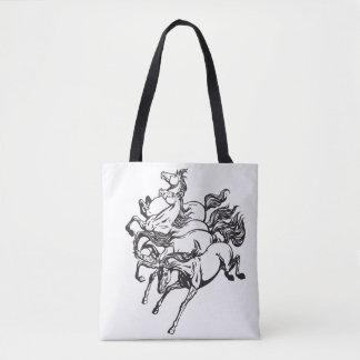 four horses tote bag