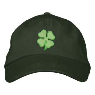 Four- Leaf Clover Embroidered Baseball Caps