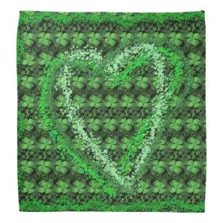 Four-leaf Clover Pattern Heart St Patrick Bandana