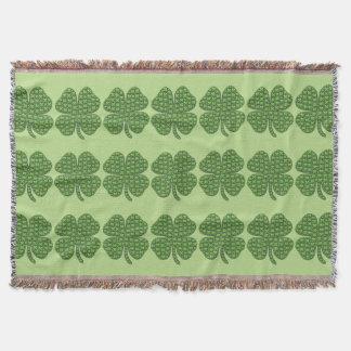 Four Leaf Clovers Throw Blanket