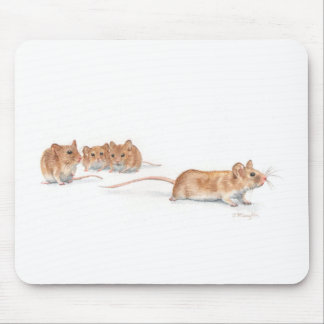 Four Mice Mouse Pad