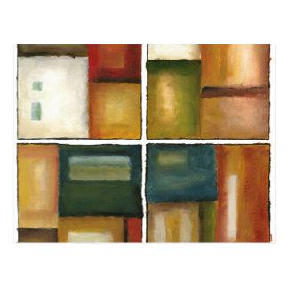Four Paneled Painting by Jennifer Goldberger Postcard
