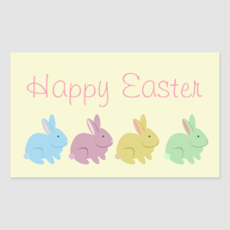 Four Rabbits Easter Sticker