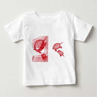 Four Red Turtles Baby T-Shirt