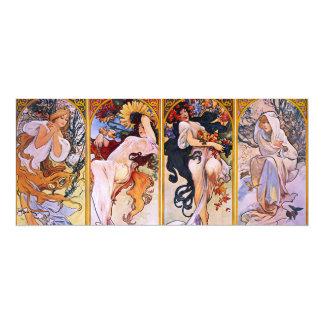 Four Seasons Alfons Mucha Card