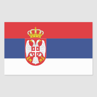 FOUR Serbia National Flag Rectangular Sticker