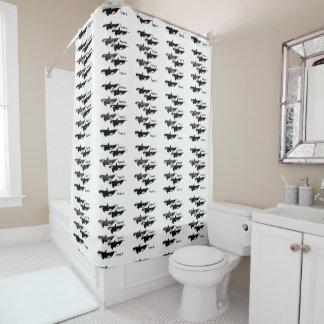 """Four types of killer whale, """"Orca"""" Shower Curtain"""
