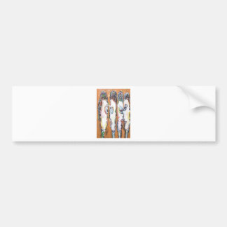 Four Vertical Housewives gossiping Bumper Sticker