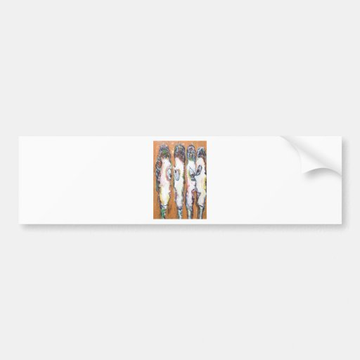 Four Vertical Housewives gossiping Bumper Stickers