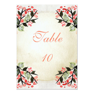 Four Watercolor Bouquets - Table Number Card