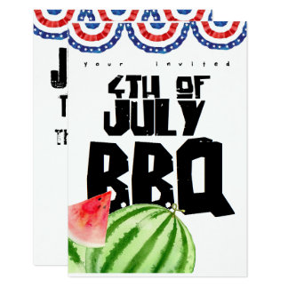 fourth of July colorful barbecue Card
