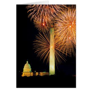 Fourth of July, Firework Display, Skyline Card