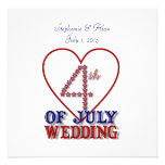 Fourth of July Stars Wedding Invitation