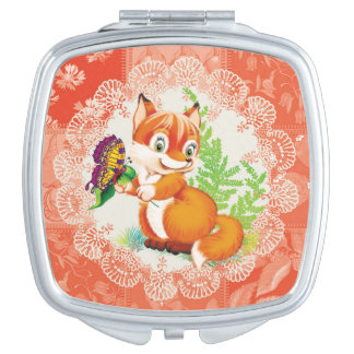 fox and butterfly vanity mirror