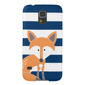 Fox and Navy Stripes Phone Case