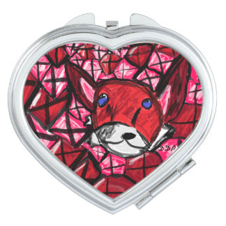fox and rubys compact mirror