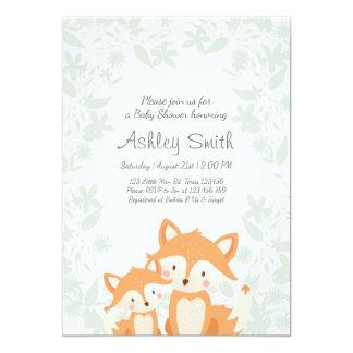Fox Baby Shower invite Woodland Shower Forest