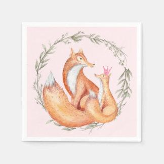 Fox Baby Shower Napkins Paper Napkins