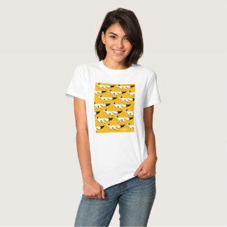 Fox bananas+ T-shirt, White and black = orange Tshirts