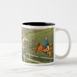 Fox Hunting, aquatinted by I. Clark, pub. by Thoma Two-Tone Coffee Mug